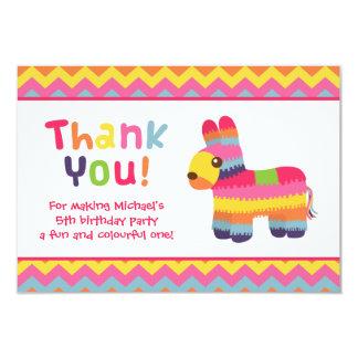 Thank You Pinata Mexican Fiesta Birthday Party 9 Cm X 13 Cm Invitation Card