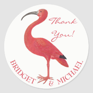THANK YOU | Pink Flamingo - Fine Art Sticker