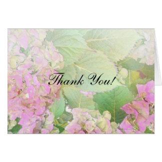 Thank You Pink Hydrangeas Custom Card