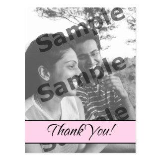Thank You - Pink Postcard