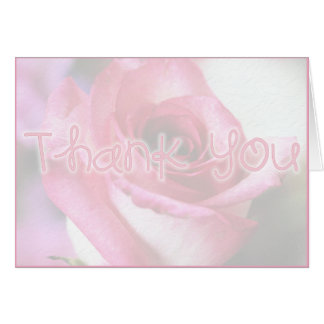 Thank You - pink rose Cards