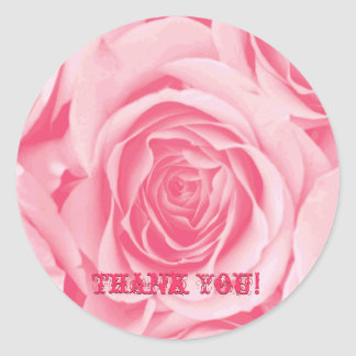 Thank You Pink Rose Sticker