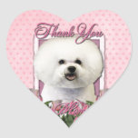 Thank You - Pink Tulips - Bichon Frise