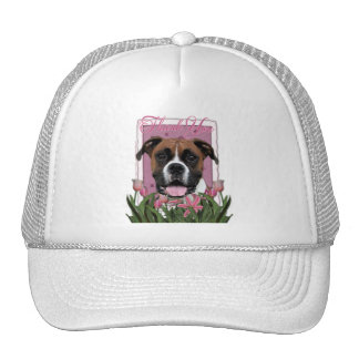 Thank You - Pink Tulips - Boxer - Vindy Trucker Hat