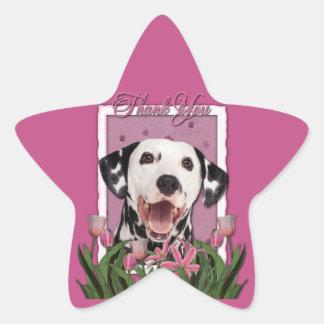 Thank You - Pink Tulips - Dalmatian Sticker
