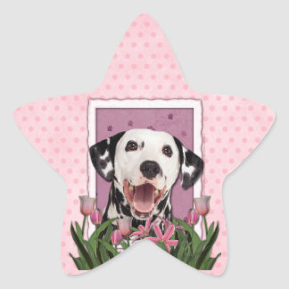 Thank You - Pink Tulips - Dalmatian Stickers