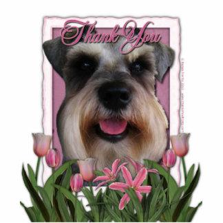 Thank You - Pink Tulips - Schnauzer Photo Cutout