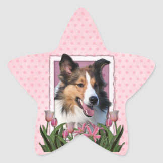 Thank You - Pink Tulips - Sheltie Stickers
