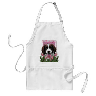 Thank You - Pink Tulips - Springer Spaniel -Baxter Aprons