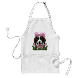 Thank You - Pink Tulips - Springer Spaniel -Baxter Standard Apron