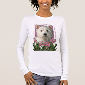 Thank You - Pink Tulips - West Highland Terrier Long Sleeve T-Shirt