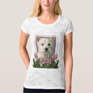 Thank You - Pink Tulips - West Highland Terrier T-Shirt