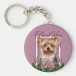 Thank You - Pink Tulips - Yorkshire Terrier