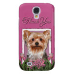 Thank You - Pink Tulips - Yorkshire Terrier Galaxy S4 Cases