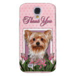 Thank You - Pink Tulips - Yorkshire Terrier Samsung Galaxy S4 Cases