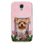 Thank You - Pink Tulips - Yorkshire Terrier Samsung Galaxy S4 Case