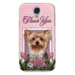 Thank You - Pink Tulips - Yorkshire Terrier Samsung Galaxy S4 Cover