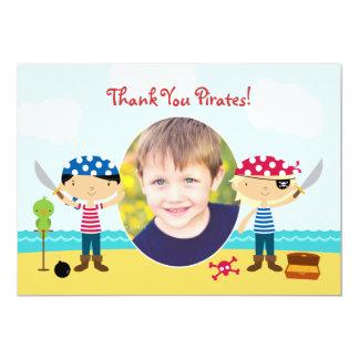 Thank You Pirate Photo Card 13 Cm X 18 Cm Invitation Card