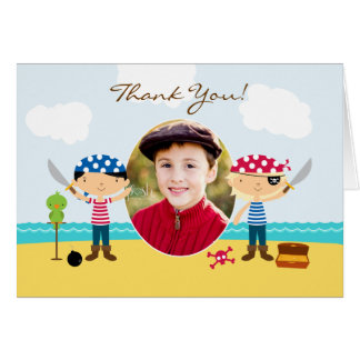 Thank You Pirate Photo Folded Card