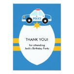 Thank You Police Theme Card 13 Cm X 18 Cm Invitation Card