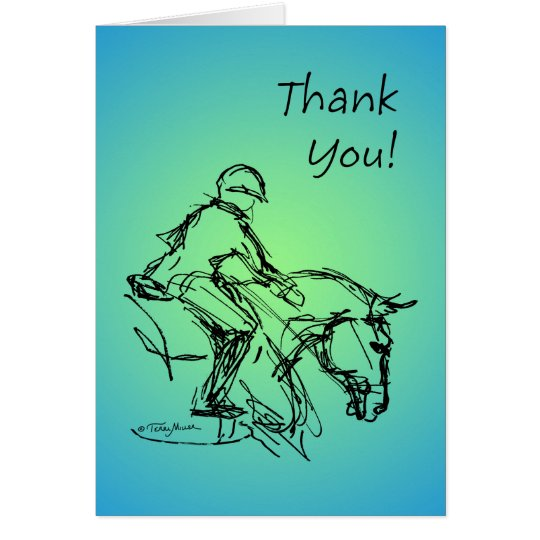 Thank You Pony! Blue-Green Card
