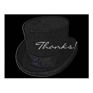 Thank You Post Cards Top Hat