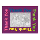 Thank You Postcard - Purple Multi Colour Frame