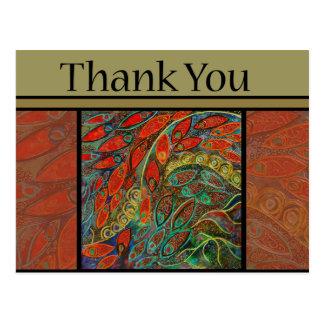 thank you postcard - revolving door painting