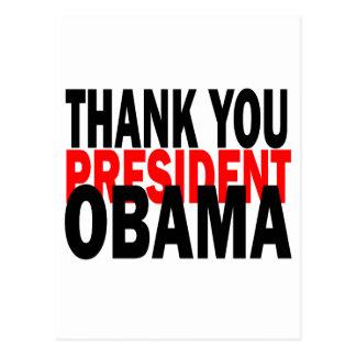 Thank You President Obama Postcard