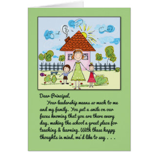 Thank You Principal-You Put a Smile on Our Faces Greeting Card