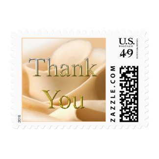 Thank You Pure Rose Wedding Postage Stamp