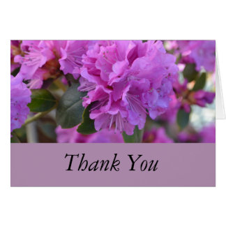 Thank You Purple Azaleas Card