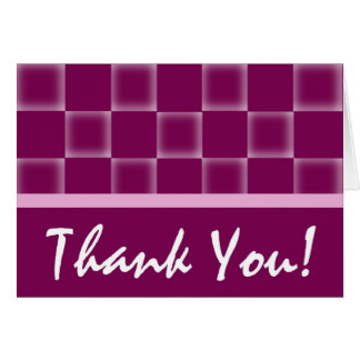 Thank You - Purple Greeting Card