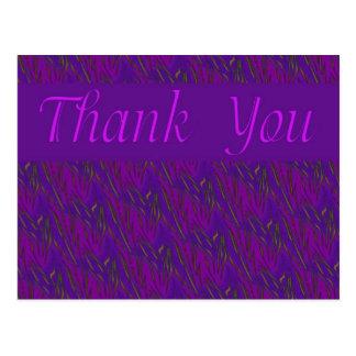 Thank You purple Postcard
