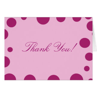 """Thank You"" - Purple/Purple Dots Note Card"