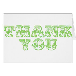 Thank You Quirky Antique Style Cards
