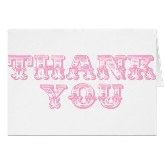 Thank You Quirky Antique Style Card