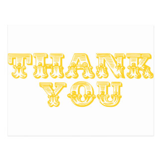Thank You Quirky Antique Style Post Cards