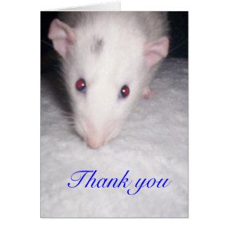 thank you rat card