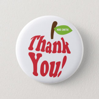 Thank You Red Apple For Teacher Appreciation 6 Cm Round Badge