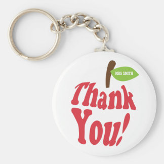 Thank You Red Apple For Teacher Appreciation Basic Round Button Key Ring