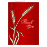 """""""Thank you"""" red cream wedding template"""