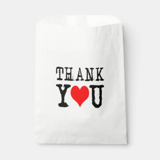 Thank You Red Heart Favour Bags