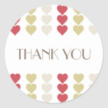 Thank You, red hearts Valentine romantic sticker |
