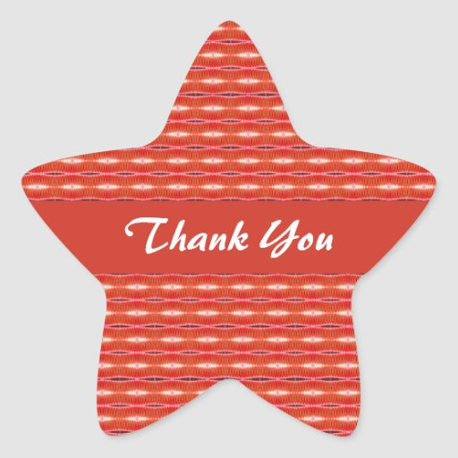 Thank You Red pattern Sticker