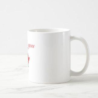 thank you red rose basic white mug