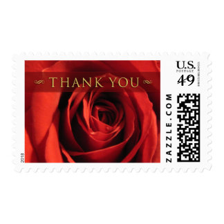 Thank You-Red Rose Medium Postage