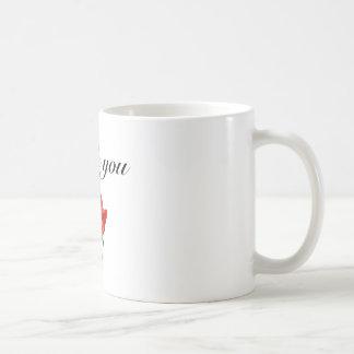 thank you red rose mug