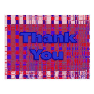 Thank You red white and blue Postcard