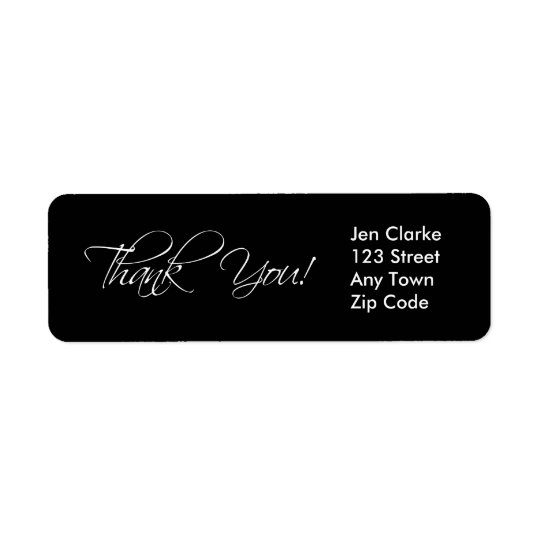 Thank You Return Address Labels for Weddings